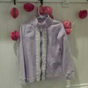 Lilly Pulitzer Girls Lilac Jacket Size 6-7